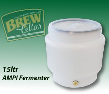 Fermenter 15ltr with Lid /  AMPI