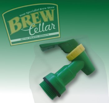 Fermenter Taps – SNAP (Green and Gold)